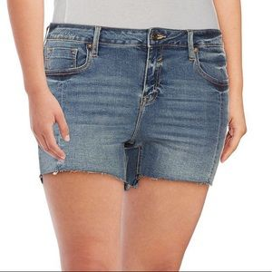 VIGOSS Frayed Denim Shorts Size 26 (1-2)